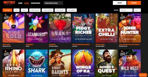 Nitro Casino Games
