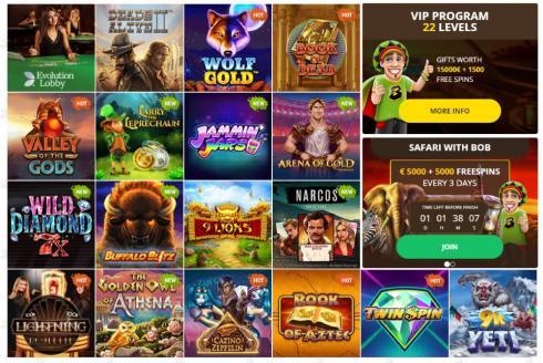 Bob Casino Games