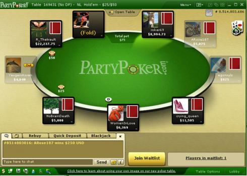 partypoker tafel