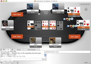party poker screenshot