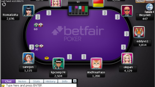 Betfair Poker tafel