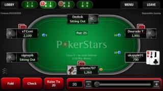 PokerStars Mobile tafel