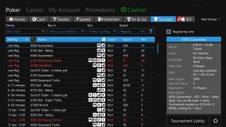 Betfair Poker lobby