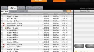 Betsson Poker lobby