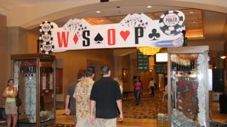 WSOP entry sign