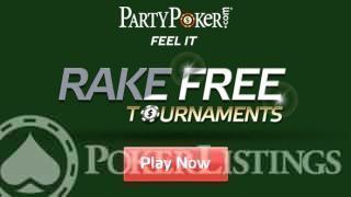 PartyPoker rake vrije toernooien