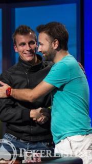 Philipp Gruissem Daniel Negreanu WSOPE 2013
