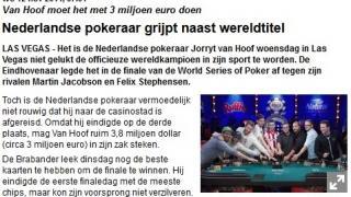 Jorryt van Hoof Telegraaf