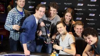 Ruben Visser met vrienden