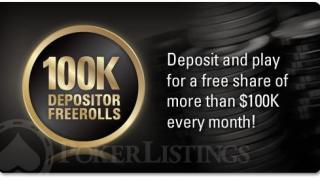 100k depositor freerolls
