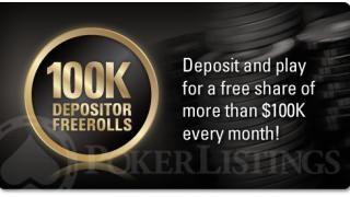 100k depositor freerolls