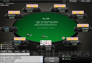 Zoom poker tafel